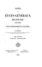 Actes des États Généraux des Pays-Bas, 1576-1585: 15 août 1578-30 décembre 1580