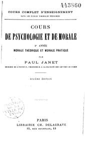 Cours de psychologie et de morale