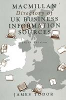 Macmillan Directory of UK Business Information Sources PDF