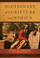 Dictionary of Scripture and Ethics PDF