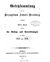 Gesetzsammlung für das Herzogthum Anhalt-Bernburg: Band 11