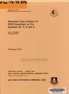 Absorption Data Analysis for EUVS Experiment on the Satellites AE C  D  and E PDF