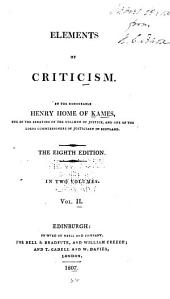 Elements of Criticism: Volume 2