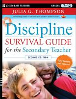 Discipline Survival Guide for the Secondary Teacher PDF