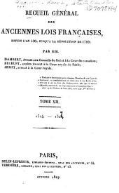 Recueil général des anciennes lois françaises: 1. ptie. 1514-1527; 2. ptie. 1528-1546