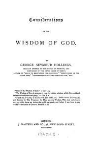 Considerations on the Wisdom of God PDF