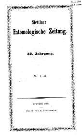 Entomologische Zeitung: Bände 52-53