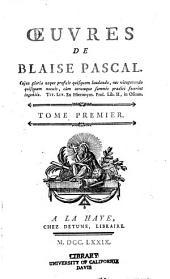 Œuvres de Blaise Pascal: Volume1