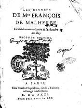 Les oeuures de Mre François de Malherbe, gentil-homme ordinaire de la chambre du Roy