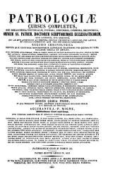 Patrologiæ cursus completus: seu, Bibliotheca universalis, integra, uniformis, commoda, oeconomica omnium SS. patrum, doctorum, scriptorumque ecclesiasticorum. Series græca, Volume 40