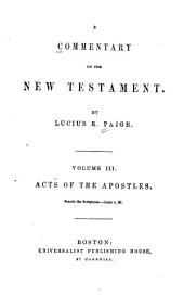 A Commentary on the New Testament: Volume 3