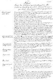 Notes tirées de l'histoire ecclésiastique de l'abbé de Bérault de Bercastel ... par ordre chronologique ...