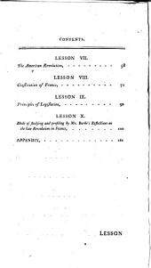 Lessons to a young prince, by an old statesman: on the present disposition in Europe to a general revolution. 7th ed. To which is added, a Lesson on the mode of studying and profiting by the Reflections on the French revolution