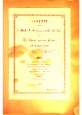 Banquet offert ... par la sociétéroyale des choeurs, le 4 mai 1858