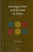 Sovereign Power and the Law in China PDF