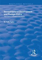 Semiperipheral Development and Foreign Policy PDF