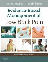 Evidence Based Management of Low Back Pain   E Book PDF