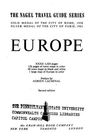 Nagel Travel Guide Series  Europe