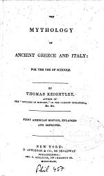 The Mythology of Ancient Greece and Italy for the Uses of Schools