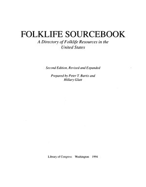 Publications of the American Folklife Center PDF