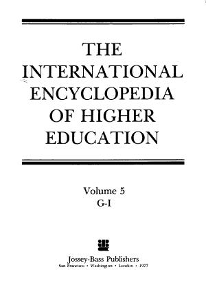 International encyclopedia of higher education PDF