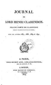 Journal sur les annees 1687, 1688, 1689 et 1690