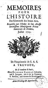 Mémoires pour l'histoire des sciences et des beaux-arts: Volume 90; Volume 1723
