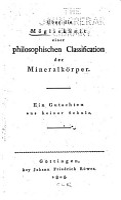 ber die M  glichkeit einer philosophischen Classification der Mineralk  rper PDF