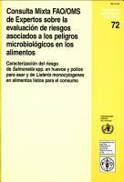 Consulta Mixta FAO OMS de Expertos Sobre la Evaluacion de Riesgos Asociados a los Peligros Microbiologicos en los Alimentos PDF