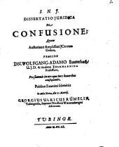 Dissertatio Iuridica De Confusione