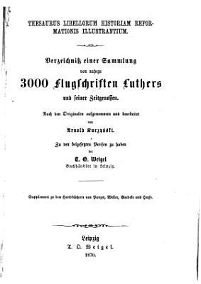 Thesaurus libellorum historiam reformationis illustrantium PDF
