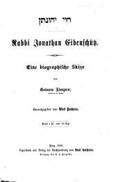 Rabbi Jonathan Eibenschütz