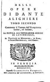 Delle opere di Dante Alighieri tomo primo (secondo).