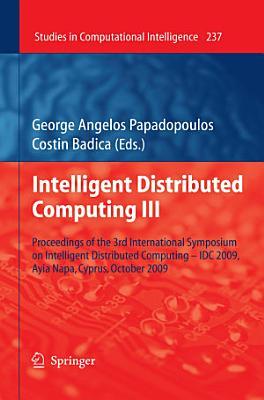 Intelligent Distributed Computing III PDF