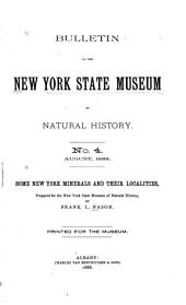 Some New York Minerals and Their Localities: Prepared for the New York State Museum of Natural History