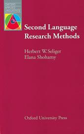 Second Language Research Methods - Oxford Applied Linguistics: