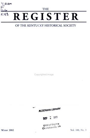 The Register of the Kentucky Historical Society