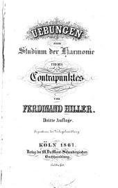 Uebungen zum Studium der Harmonie und des Contrapunktes