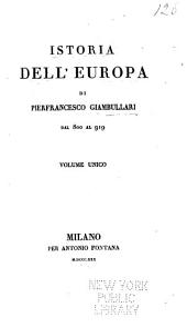 Istoria dell'Europa dal 800 al 919