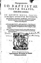 Phytognomonica, Octo libris contenta ... Accedunt ... infinita ... secreta ... nunc primum ab ... mendis ... vindicata