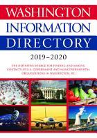 Washington Information Directory 2019 2020 PDF