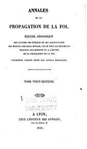 Annales de la propagation de la foi: Volume28