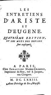 Les entretiens d'Ariste et d'Eugene