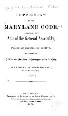 The Maryland Code PDF