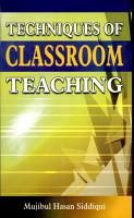 Techq  of Classroom Teaching PDF