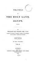 Travels in the Holy Land  Egypt   c PDF