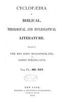 Cyclopaedia of Biblical  Theological  and Ecclesiastical Literature PDF