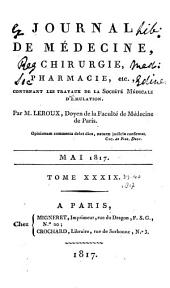 Journal de médecine, chirurgie, pharmacie, etc: Volumes 39 à 40