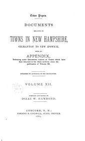 Provincial and State Papers: Volume 12