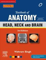 Textbook of Anatomy  Head  Neck and Brain  Vol 3  3rd Updated Edition  EBook PDF